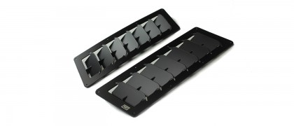 Small Angular Universal Hood Louvers