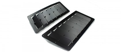 Large Angular Universal Hood Louvers
