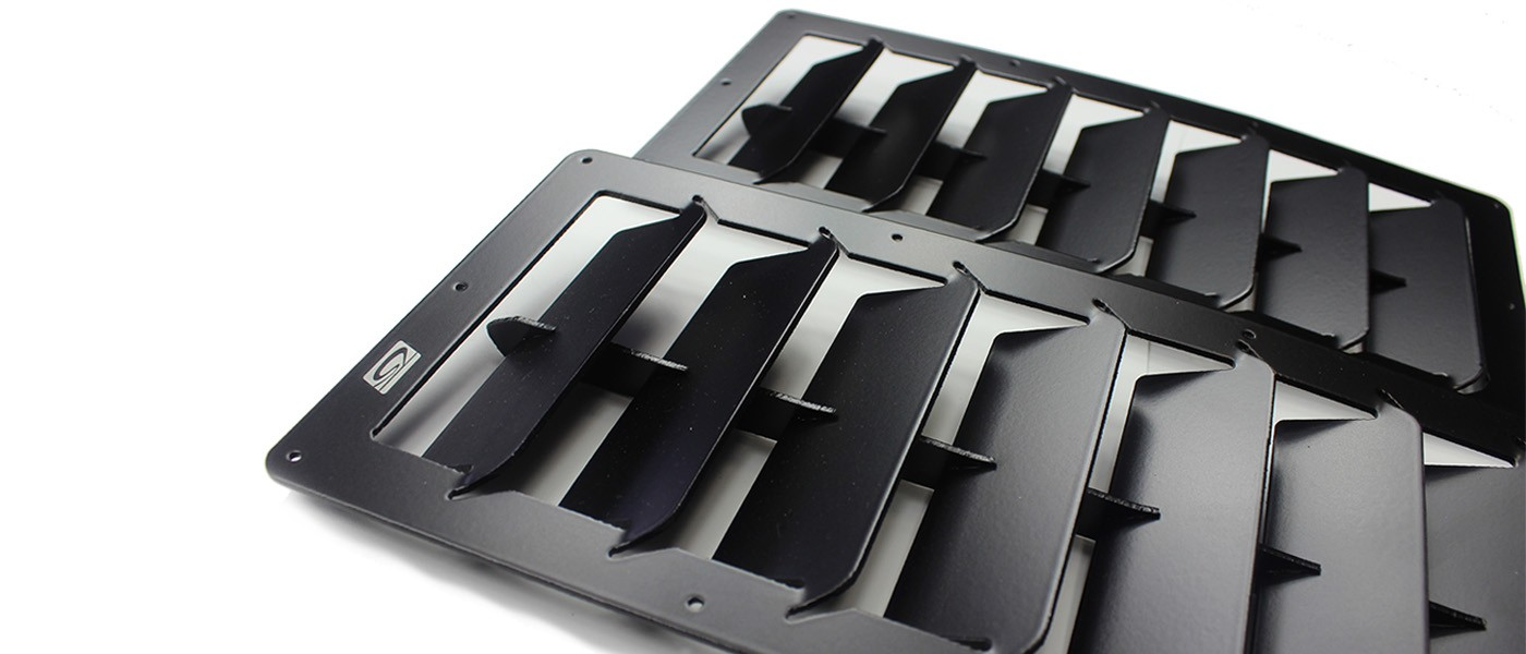 Rear End Shop >> Large Rectangular Universal Hood Louvers